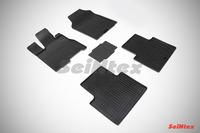 Ковры резиновые (сетка) Seintex для Acura RDX II 2012- (цвет Черный)