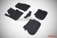 Ковры резиновые с бортом Seintex для Volkswagen Caddy 2010- (цвет Черный)