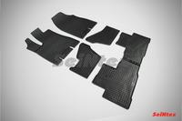 Ковры резиновые (сетка) Seintex для Acura MDX 2013- (цвет Черный)
