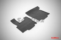 Ковры резиновые (сетка) Seintex для DAF 105XF 2006- (цвет Черный)