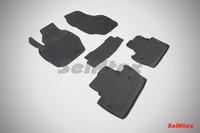 Ковры резиновые с бортом Seintex для Volvo S60 II 2010- (цвет Черный)