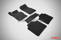 Ковры резиновые (сетка) Seintex для BMW 3 Ser F-34 GT 2011- (цвет Черный)