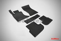 Ковры резиновые (сетка) Seintex для BMW 5 Ser F-10 4WD 2013- (цвет Черный)
