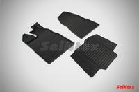 Ковры резиновые (сетка) Seintex для Ford TOURNEO Custom 2014- (цвет Черный).