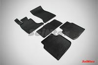 Ковры резиновые (сетка) Seintex для BMW 7 Ser F-02 2008- (цвет Черный)