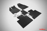 Ковры резиновые (сетка) Seintex для Ford Edge 2011- (цвет Черный)