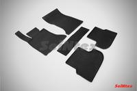 Ковры резиновые (сетка) Seintex для BMW 5 Ser F-10 2013- (цвет Черный)