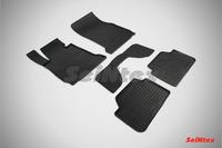 Ковры резиновые (сетка) Seintex для BMW 1 Ser F-20-21 2013- (цвет Черный)