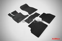 Ковры резиновые (сетка) Seintex для BMW 5 Ser F-07 GT 2013- (цвет Черный)