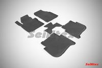 Ковры резиновые с бортом Seintex для Volkswagen Touran II 2010- (цвет Черный)