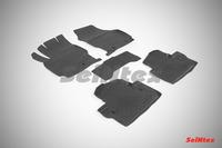 Ковры резиновые с бортом Seintex для Volvo XC-70 2013- (цвет Черный)