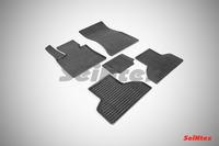 Ковры резиновые (сетка) Seintex для BMW X5 F-15 2014- (цвет Черный)