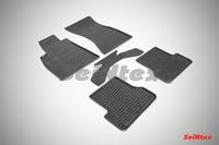 Ковры резиновые (сетка) Seintex для Audi A7 2010- (цвет Черный)