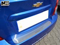 Накладки бампера без загиба Natanika для Chevrolet AVEO 2011- (седан) B-CH04 (1 шт.)
