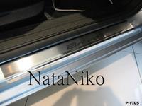 Накладки порогов Premium Natanika для Fiat Bravo 2007- P-FI05 (4 шт.)
