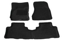 Ковры 3D ворсовые Boratex для Hyundai Tucson 2004-2010 (цвет Серый)