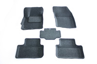 Ковры 3D ворсовые Boratex для Mitsubishi ASX 2010- (цвет Серый)