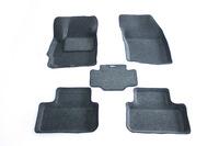 Ковры 3D ворсовые Boratex для Citroen C4 Aircross 2012- (цвет темно-серый)