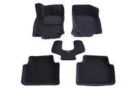Ковры 3D ворсовые Boratex для Skoda Octavia 2013- (цвет Серый)