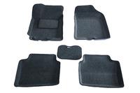 Ковры 3D ворсовые Boratex для KIA Rio 2012- (цвет Серый)