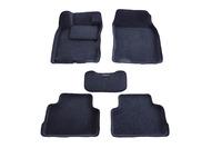 Ковры 3D ворсовые Boratex для Nissan Qashqai 2014- (цвет Серый)