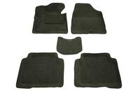 Ковры 3D ворсовые Boratex для Hyundai Santa Fe 2012- (цвет Черный)