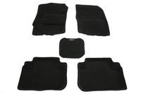 Ковры 3D ворсовые Boratex для Mitsubishi Outlander 2012- (цвет Черный)