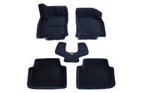 Ковры 3D ворсовые Boratex для Skoda Octavia 2013- (цвет Черный)