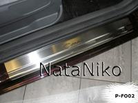 Накладки порогов Premium Natanika для Ford C-MAX 2010- P-FO02 (4 шт.)
