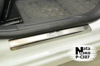 Накладки порогов Premium Natanika для Citroen C3 2010- P-CI07 (4 шт.)