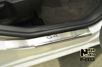 Накладки порогов Premium Natanika для Citroen C4 2011- P-CI12 (4 шт.)