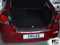 Накладки бампера без загиба Natanika для Chevrolet Cruze 2011- (5 дверей) B-CH07+k (1 шт.) Carbon