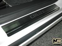 Накладки порогов Premium Natanika для Chevrolet Cruze 2008-2015 (4/5 двери) P-CH05 (4 шт.)