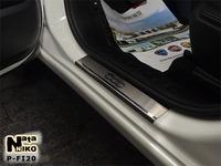 Накладки порогов Premium Natanika для Fiat 500 L 2013- P-FI20 (4 шт.)