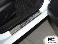 Накладки порогов Premium Natanika для Ford Fiesta 2008- P-FO05 (4 шт.)