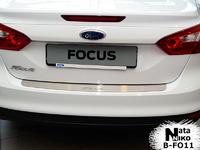 Накладки бампера без загиба Natanika для Ford Focus 2011- (седан) B-FO11 (1 шт.)