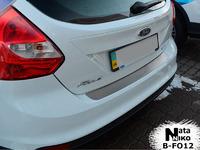 Накладки бампера без загиба Natanika для Ford Focus 2011- (5 дверей) B-FO12 (1 шт.)