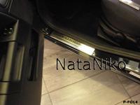 Накладки порогов Premium Natanika для Ford Fusion 2002- P-FO14 (4 шт.)