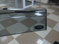 Дефлекторы окон клеящиеся ALVI-style для Chevrolet Cruze 2009- Sedan (хром. молдинг) из НЕРЖАВЕЙКИ