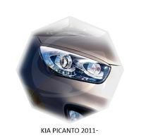 Реснички на фары CarlSteelman для KIA Picanto 2011-