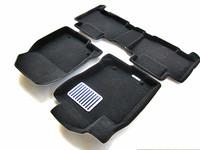Ковры 3D ворсовые Euromat 3D ЛЮКС для Toyota Rav-4 2013- (цвет Черный)