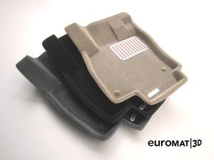Ковры 3D ворсовые Euromat 3D ЛЮКС для Skoda Superb 2009-2015 (цвет Бежевый)