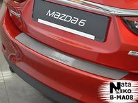 Накладки бампера без загиба Natanika для Mazda 6 2013- B-MA08 (1 шт.)