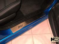 Накладки порогов Preium Natanika для Peugeot 207 2006- (5 дверей) P-PE10 (4 шт.)
