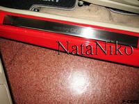 Накладки порогов Premium Natanika для Chery QQ 2008- P-CR05 (4 шт.)