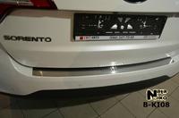 Накладки бампера без загиба Natanika для KIA Sorento 2012- B-KI08 (1 шт.)