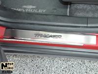 Накладки порогов Premium Natanika для Chevrolet Tracker 2013- P-CH18 (4 шт.)