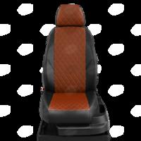 Авточехлы для Audi 80 В4 с 1991-1996г. седан Задние спинка 40 на 60, сиденье единое, 2 надкрыльника, задний подлокотник (молния), 4-подголовника  ЭК-10. Середина проивка ромб: экокожа фокс с перфорацией. Боковины: чёрная экокожа.  Спинка: чёрная экокожа.
