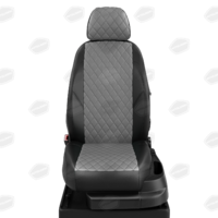 Авточехлы для Audi 100 (C 3) с 1982-1991г. седан, универсал Задние спинка и сиденье единые. Передние два подголовника, задний подлокотник (молния) ЭК-02. Середина: экокожа тёмно-серая с перфорацией. Боковины: чёрная экокожа. Спинка: чёрная экокожа
