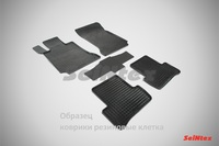 Ковры резиновые (сетка) Seintex для Citroen Berlingo 2006- (цвет Черный)